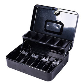 China US Cash Box for EU, 300*240*90mm, With Clip to Hold the Bills