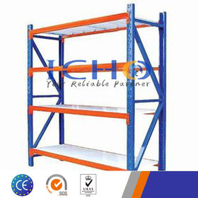 China Metal longspan light duty shelving for industrial warehouse storage solutions