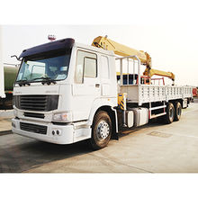 Truck mounted crane, 6.3T lifting capacity SQ6.3SK3Q knuckle boom hydraulic truck crane