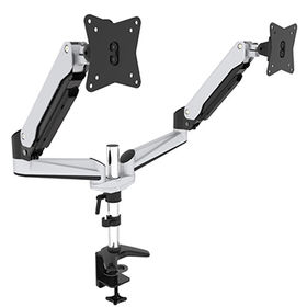 Dual monitor mount,Durable gas spring arm ,15-27