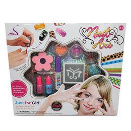 China Girl nail arts, cosmetic with tattoo kits