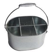 BBQ Accessory Galvanized Metal Utensils Bucket