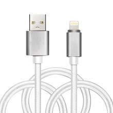 Fast Charge Metal Rope Power and Sync Cable for iPhone from Dongguan HYX Industrial Co. Ltd