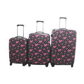 Set of 3pcs ABS/PC printed luggage 20/24/28