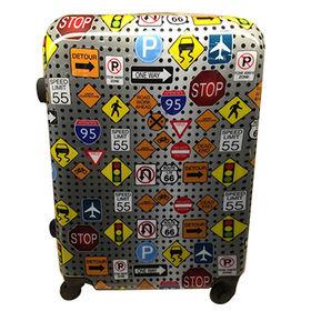 Set of 3pcs ABS/PC Printing luggage 20/24/28