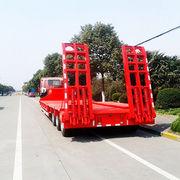 China Three Axle Low Bed Semi-Trailer