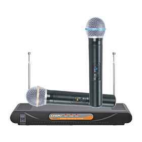 China VHF Dual Channel Handheld Wireless Microphone
