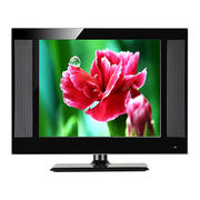 15 LED TV with double glass, wide frame model design, optional OSD languages