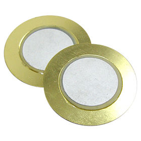 Hong Kong SAR 30 mm dia Piezo Ceramic Buzzer with 3.0 kHz resonant frequency