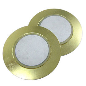 30.5 mm dia Piezo Ceramic Buzzer with 2.6 kHz resonant frequency from Wealthland (Audio) Limited