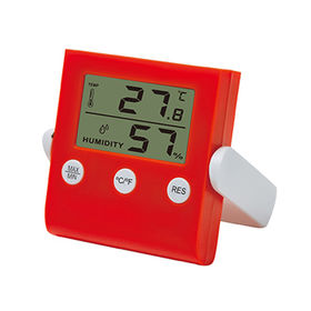China Digital thermometer & hygrometer monitor with magnet backside for home use