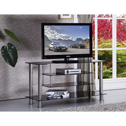 Tempered-glass and Stainless Steel TV Stands from Langfang Peiyao Trading Co.,Ltd