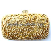 China Handbag Product Categories Ladies' Fashionable Crystal Gold Evening Bags