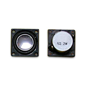 China Notebook Speaker with 2W Power and 200Hz-20kHz Frequency Range, Measures 23 x 23 x 10.2mm