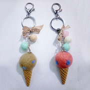 China Attractive Ice Cream Design Felt Keychains