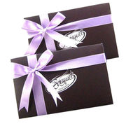 China Cardboard gift bag, colorful printing with ribbon