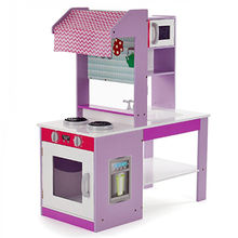China New Style Double Sided Pretend Play Toys Wooden Kidu0027s Play Kitchen Set  W10C274 ...