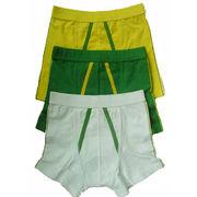 China Boys' boxer shorts with covered elastic on waistband