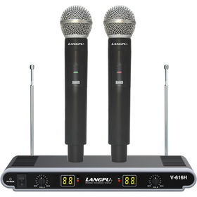 China VHF Dual Channel Handheld Cordless Microphone