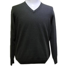 High quality V neck large sweater, men's cashmere sweater