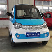 Low speed electric car, 3 passengers, left and right hand-drive