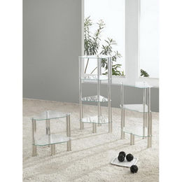 China Space Saving Glass End Table with Layers