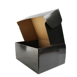 China Black paper box, gold foil box with custom foil stamped for shipping