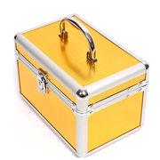 China Beauty Jewelry Box with Aluminum Frame, Tray, Mirror