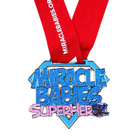 China Glitter medal, hollow out medal, custom running medal 5K, personalized design, souvenir gifts