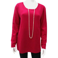 Women's cashmere crew neck pullover sweater from Inner Mongolia Shandan Cashmere Products Co.Ltd
