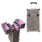 China Beauty Aluminum Trolley Makeup Suitcase for Travel, Trays, Custom