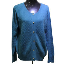 Factory Fashion Style Knitted Sweater Cardigan for Women from Inner Mongolia Shandan Cashmere Products Co.Ltd