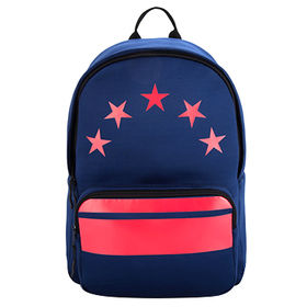 China Fashionable backpack with fabric material durable daypacks