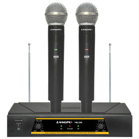 China VHF Dual Channel Cordless Microphone System