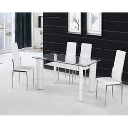 China Qualified Tempered-glass Modern Dining Set