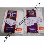 """China Twin Pillow Top Mattress Plastic Bags, 3 Mil/40 x 1 5 x 95"""" Gusseted"""