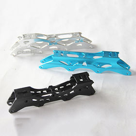 China Customized colorful aluminum alloy die casting parts of ice skate support blade
