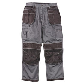 China Hound Work Trousers Grey/Black,with Top-loading Knee Pad Pockets and Rugged Oxford Fabric
