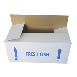 China Waxed corrugated boxes,suitable for meat,seafood,fruit and vegetables stored in freezer.