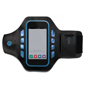China Waterproof cellphone bag case, phone cover LED sports armband for iPhone 7