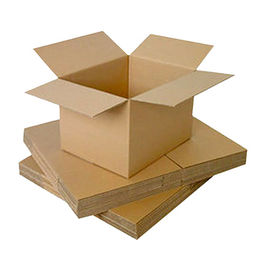 China Corrugated carton boxes with various measurements are available.