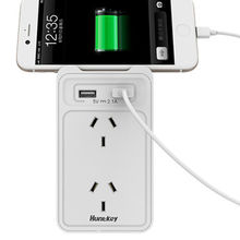 China Huntkey 2-outlet Wall Charger w/ Dual USB Charging Ports (2.4 Amp Total)
