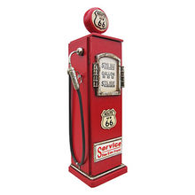 China Wooden coffee bar cabinet with antique gas pump shape W08C217