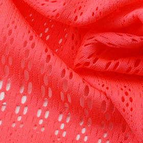 Quick Dry Tricot Jacquard Mesh Fabric in Fluorescent-pink Color from Lee Yaw Textile Co Ltd