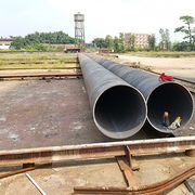 China Large Diameter Black and HDG Welded Steel Tubes for Pressure Purpose