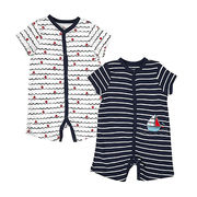 China Baby Boys' 2-pack Nautical Rompers
