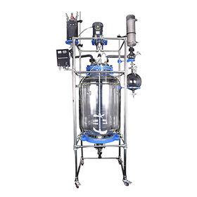 China 200L China jacketed glass reactor