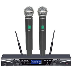 China New Arrival UHF Dual Channel Cordless Microphone