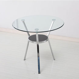 China Latest designs glass & metal table office,wholesale price