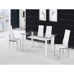 China Cheap PVC Leather Wrapped Hot Selling Dining Table Set